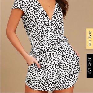 Lulu's Hotty Hot Leopard Print Romper